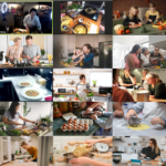 Team building, atelier sushis, GSK, Rueil Malmaison. Sushi crevette, sushi omelette, maki saumon cru et cuit, maki foie gras, maki concombre avocat et mayonnaise épicée.